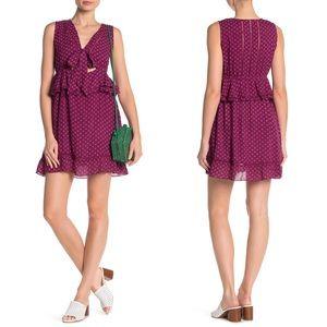 Raga Loretta Printed Tie Front Mini Dress